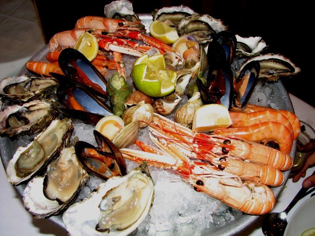 Podemos comer frutos do mar?