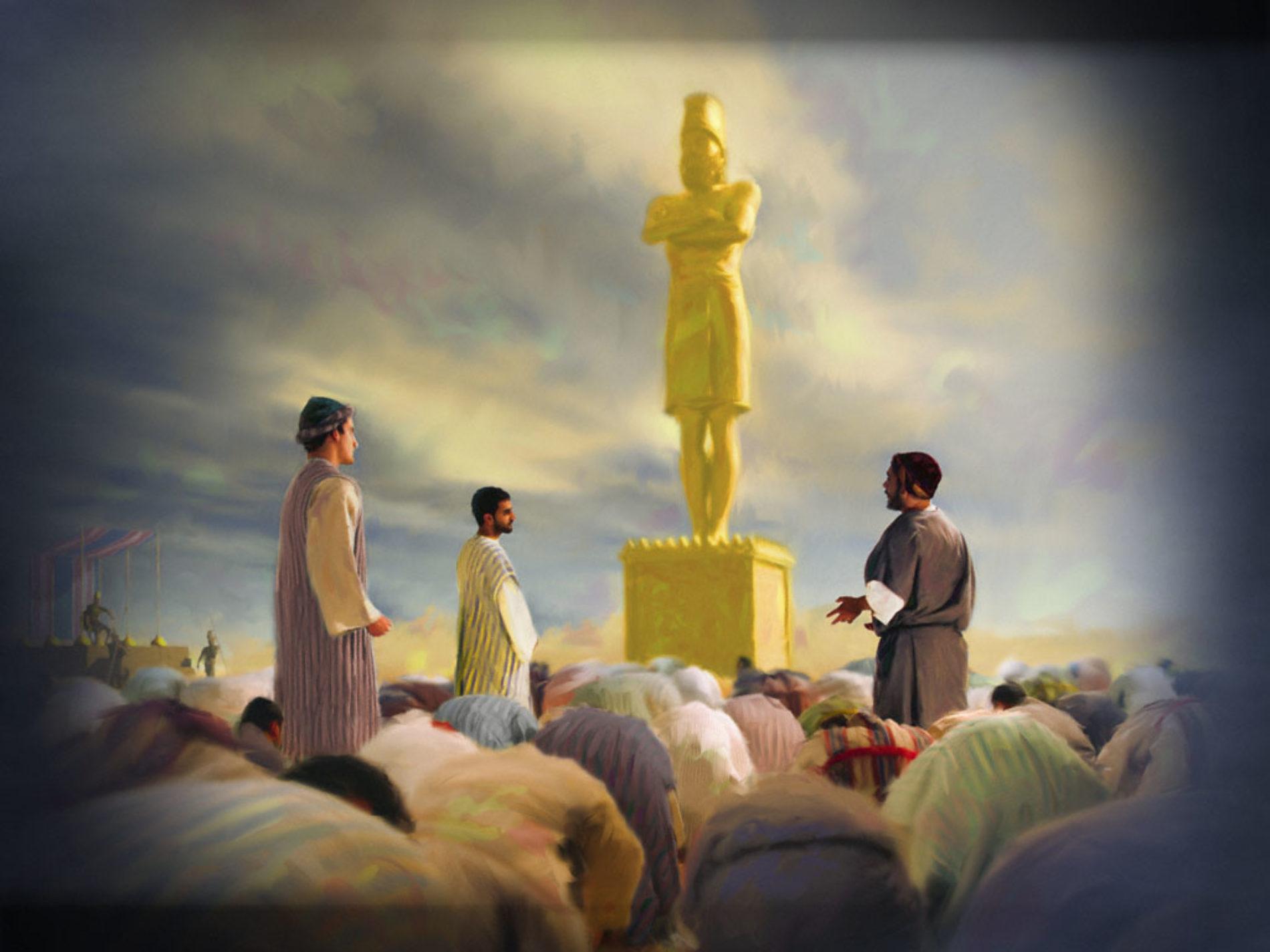 A estátua de ouro