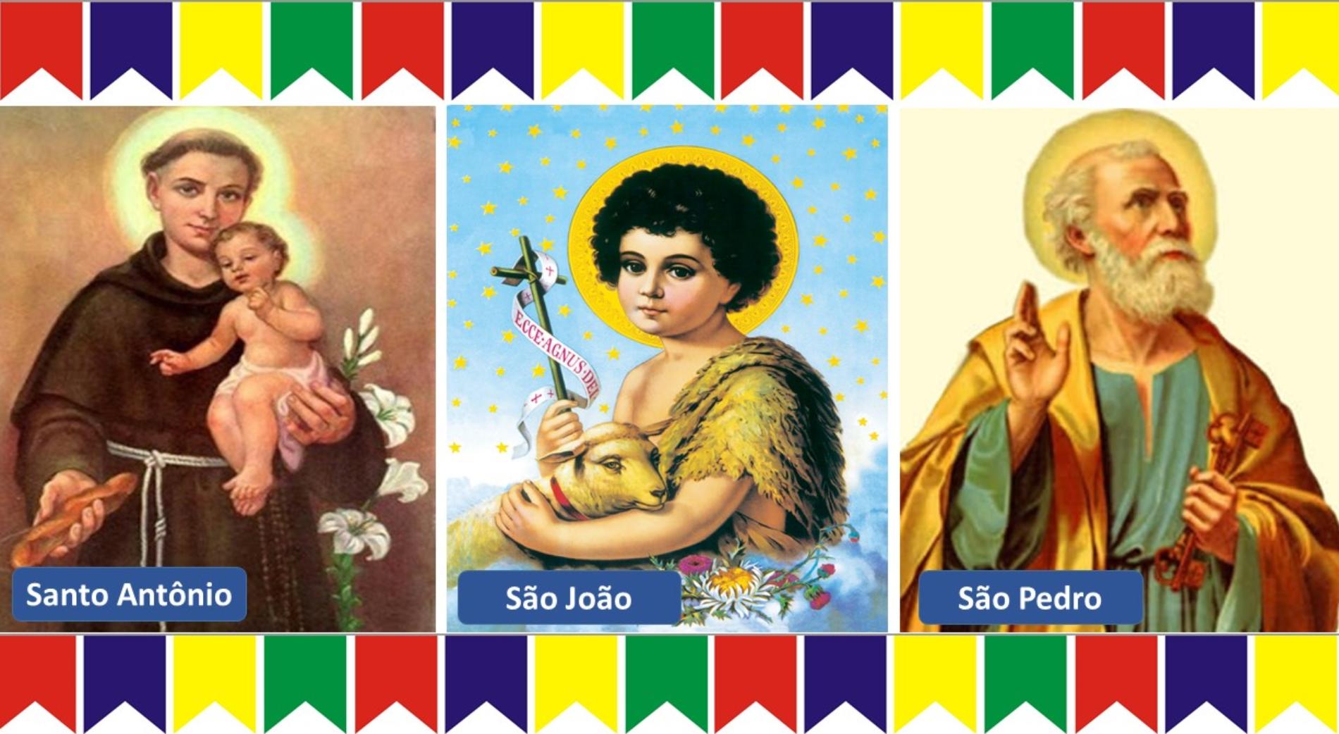 Os Santos do mês de Junho: Antonio, João Batista e Pedro