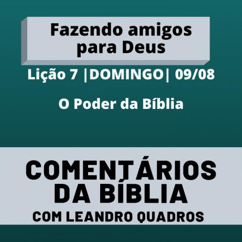 Domingo 09/08 – O Poder da Bíblia